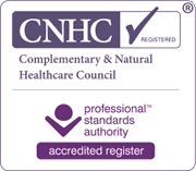 Registered with the Complementary & Natural Healthcare Council