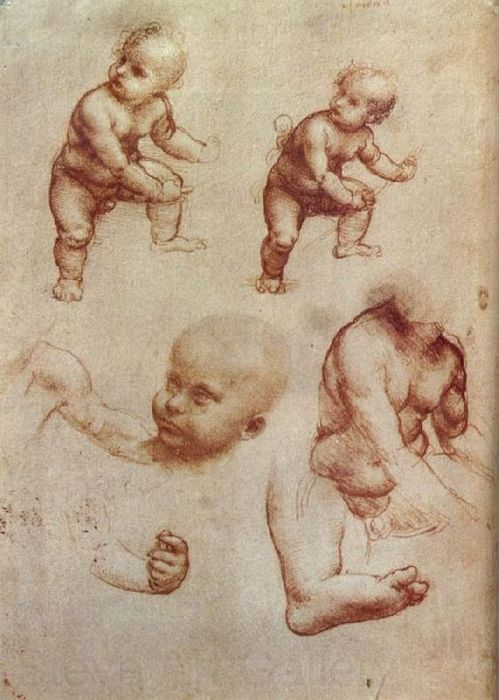 Leonardo Da Vinci Drawing of an Infant.jpg